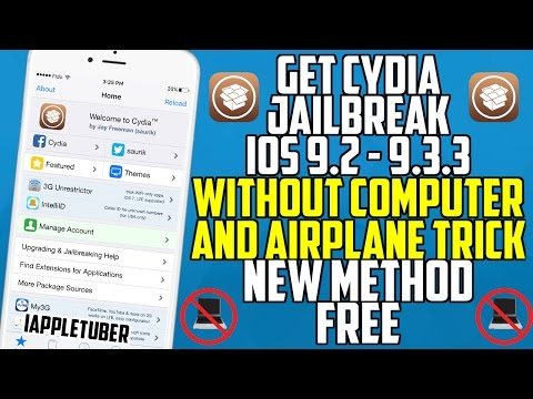 Get Cydia Jailbreak WITHOUT Computer And Airplane Trick!! iOS 9.2 - 9.3.3