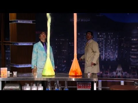 Elephant's Toothpaste Geyser With Science Bob on Jimmy Kimmel Live