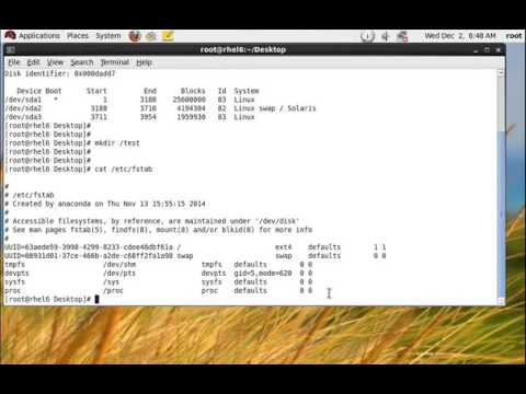Permanent Mount Linux Volume Partition File System - RHEL 6