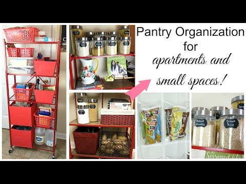 Pantry Organization For Small Spaces + Open Pantry Ideas | Miss Hope Elizabeth