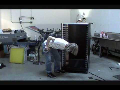 How To Screen Print: DIY Screen Drying Rack