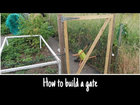 How to build an easy gate for your garden or allotment