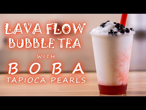 How to Make Lava Flow Bubble Tea with Boba Tapioca Pearls