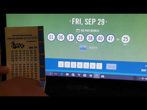 LottoMax - Winning Ticket #29/09/2017