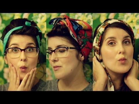 6 Easy Retro Ways to Wear a Headscarf