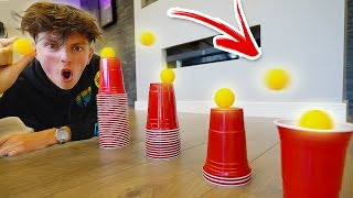 INSANE PING PONG TRICK SHOTS!! (IMPOSSIBLE CHALLENGE)