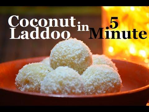 5 minute Coconut Laddoo