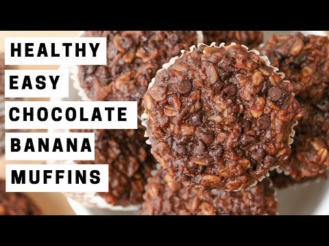 Healthy and Easy Chocolate Banana Muffins Recipe