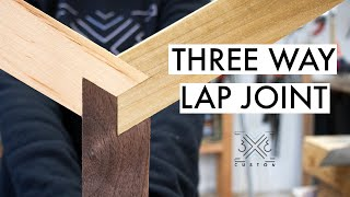 Actually, I don't know what this joint is called... but Three-Way Lap Joint seemed to fit. Ha!