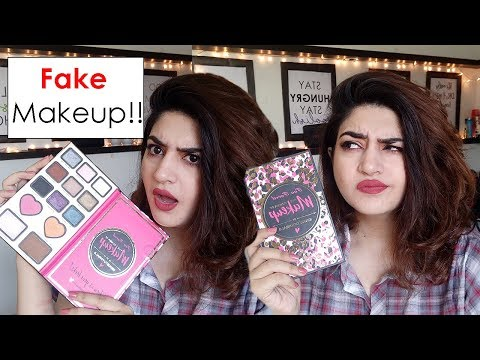 Testing Fake Make-Up | Too Faced Nikki Tutorials Palette | Glossips