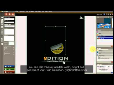 How to insert Flash files (SWF files)
