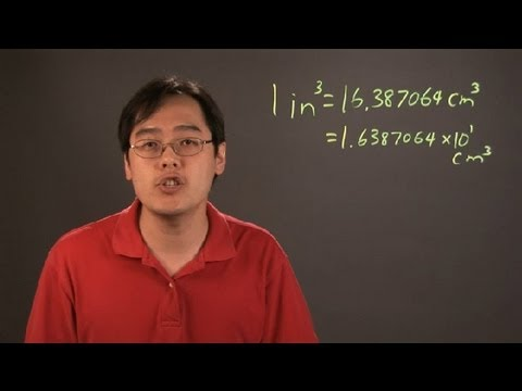 How to Calculate Cubic Inches Into Centimeters Cubed in Scientific Notation : Math Calculations