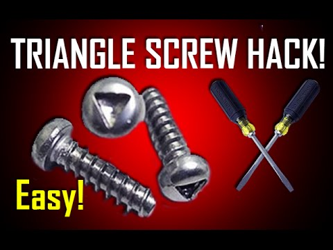 HOW TO UNSCREW TRIANGLE SECURITY SCREWS & BOLTS | Lil Tips with Gaz EP01