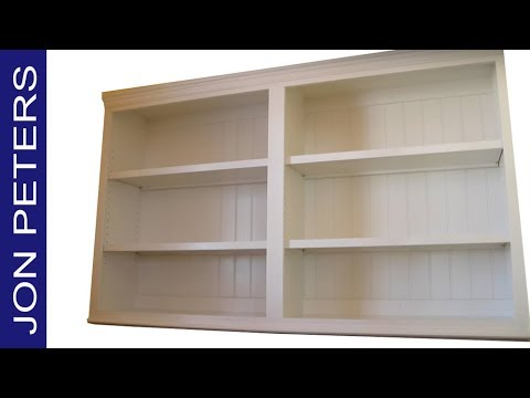 Build & Install Kitchen Pantry Cabinet - Adjustable Bookshelves