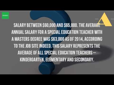 How Much Does A Special Education Teacher Make With A Masters Degree?