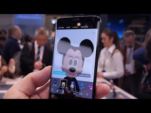 AR Emoji on the Galaxy S9: hey look, I'm Mickey Mouse!