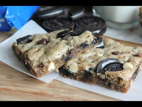 Cookies and Cream Oreo Blondies Recipe..For Cheat Day!