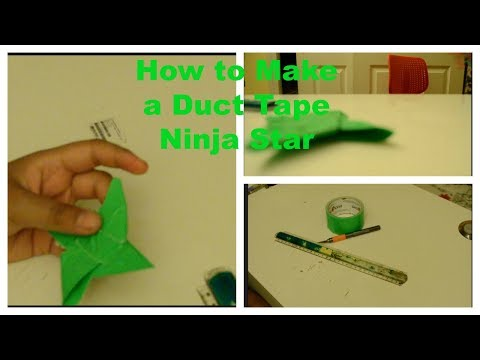 How to make a super easy, super fun, Duct Tape Ninja Star!!