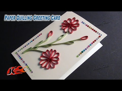 DIY Easy Paper Quilling Greeting Card without Tool   How to make   JK Easy Craft 050