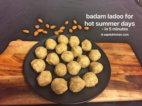 instant badam/almond ladoo for summers   almond ladoo   badam laddu   quick & easy laddo/laddu