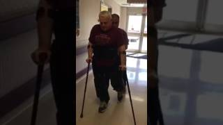 Former Soldier Walks For First Time After 33-Years