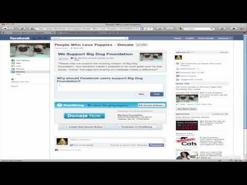 How To Install A Donation Button Into A Facebook Page