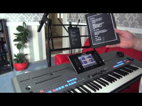Displaying Lyrics on Tablets using registrations on  the Tyros5