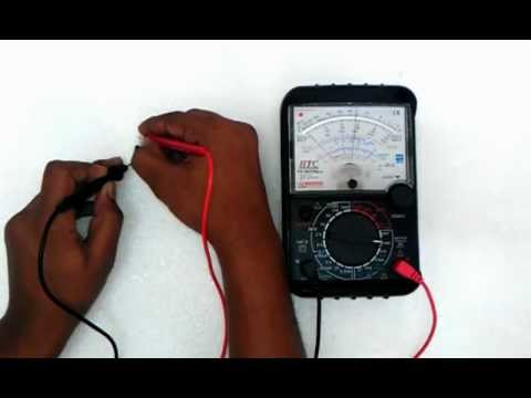 N-Channel MOSFET testing using Analog multimeter