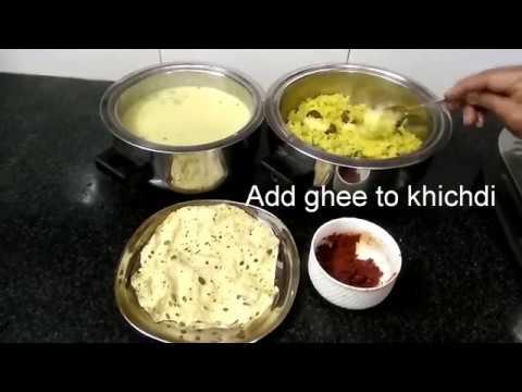 Tur Dal khichdi - Kadhi, Gujarati Special