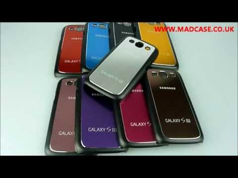 Stylish Brushed Metal Samsung Galaxy S3 Case Cover by www.madcase.co.uk