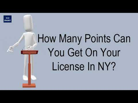 How Many Points Can You Get On Your License In NY?