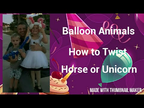 Horse - easy balloon animals for beginners