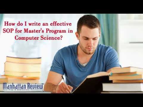 How do I write an effective SOP for Master's Program in Computer Science?