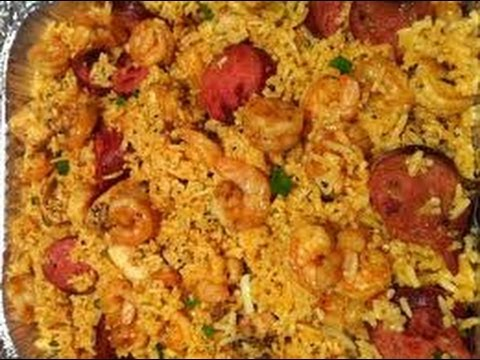 New Orleans Best Shrimp, Chicken and Sausage Jambalaya Video