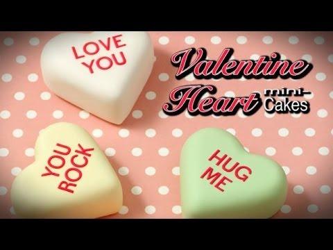 Conversation Heart Mini Cakes-How-to