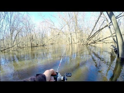 Fishing Cold FLOODED Rivers for PIKE