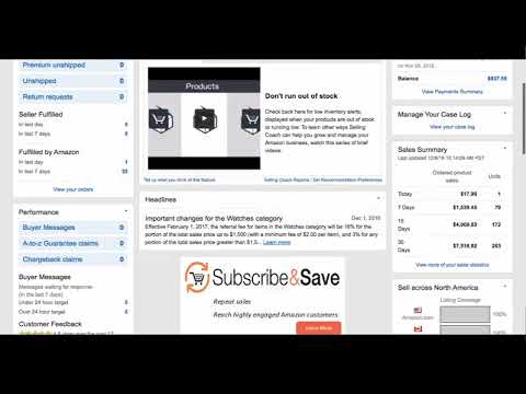 Introduction to Amazon Seller Central Dashboard