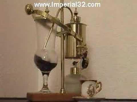 Gold Balancing Vacuum Espresso Coffee Machine