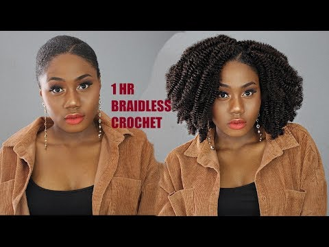 I HR Easy Braidless Crochet Hairstyle || NO CORNROWS