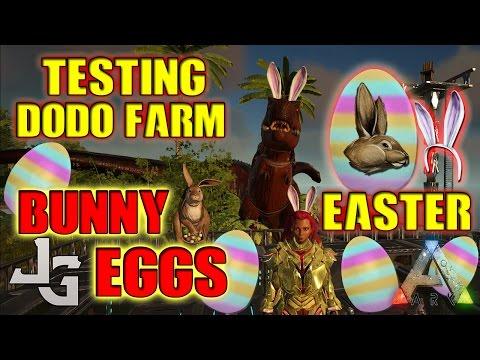 ARK - Easter Bunny Eggs - Testing Dodo Farm - How to get Bunny Ears 2017