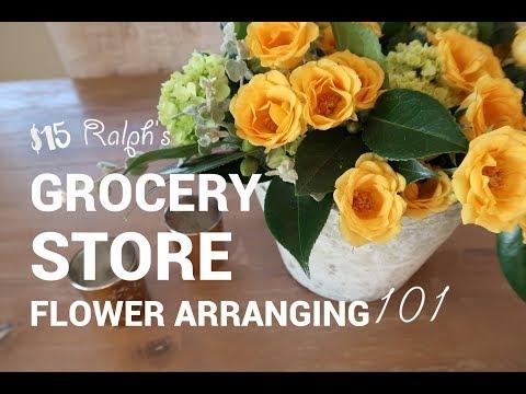 DIY FLOWER ARRANGEMENT USING GROCERY STORE FLOWERS