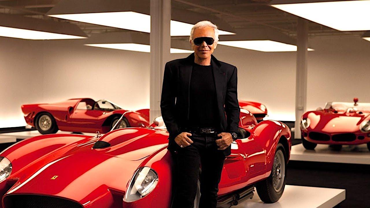Ralph Lauren Amazing $350 Million Dream Garage Video + Ralph Lauren Interview Car Collection 2017