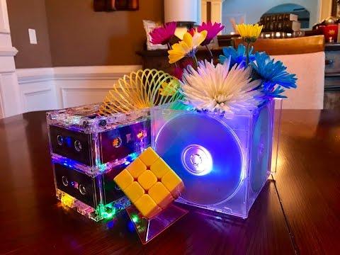 DIY Cassette Tape Centerpiece