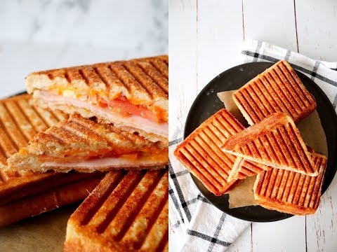 Parmesan Crust Toast (Hot Sandwich) With Ham And Cheese - By One Kitchen