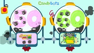 Candybots Numbers 123 - Learn counting 50 to 60 number - Education Apps for Kids