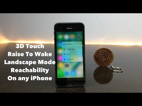 Get 3D Touch/Raise To Wake/Landscape Mode/Reachability (iOS 10 Cydia Tweaks)
