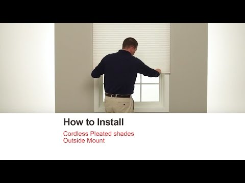Bali Blinds | How to Install Cordless Pleated shades - Outside Mount