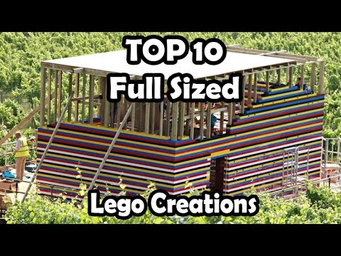 Top 10 amazing life size lego creations (life size lego house and working lego car + MORE )