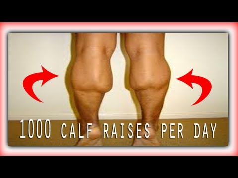 Will 1000 calf raises per day increase your vertical?