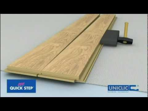 OnFlooring Quick-Step Uniclic Laminate Flooring - Floating Floor Installation.